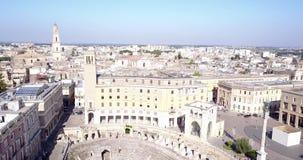 Historiskt centrum av Lecce, Italien lager videofilmer