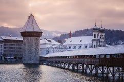 Historiskt centrum av Lucerne royaltyfri foto