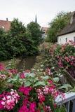 Historiskt centrum i Schwabach royaltyfria bilder
