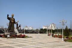 Historiskt diagram Turkmenistan för monument. royaltyfria foton