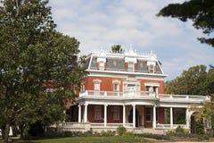 Historiskt Ellwood hus i Dekalb fotografering för bildbyråer