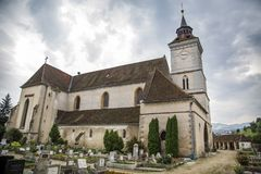Historiskt evangelikalt för Biserica Bartolomeu Brasov kyrka royaltyfria foton