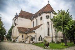 Historiskt evangelikalt för Biserica Bartolomeu Brasov kyrka royaltyfri fotografi