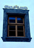 historiskt fönster fotografering för bildbyråer