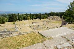 Historiskt fördärvar av Asclepieion på Kos royaltyfri bild
