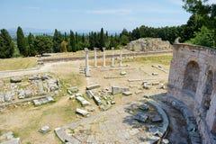 Historiskt fördärvar av Asclepieion på Kos arkivfoto