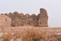 Historiskt fördärvar av det Bhatner fortet på Hanumangarh i Rajasthan, 1700 år gammalt fort royaltyfria bilder