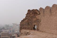 Historiskt fördärvar av det Bhatner fortet på Hanumangarh i Rajasthan, 1700 år gammalt fort royaltyfri bild