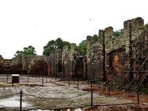 Historiskt fördärvar av San Ignacio Mini, i den Argentina staden av San Ig Royaltyfri Fotografi