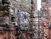 Historiskt fördärvar av San Ignacio Mini, i den Argentina staden av San Ig Royaltyfri Bild