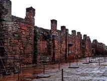 Historiskt fördärvar av San Ignacio Mini, i den Argentina staden av San Ig Arkivfoton