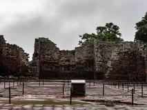 Historiskt fördärvar av San Ignacio Mini, i den Argentina staden av San Ig Royaltyfri Foto