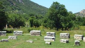 Historiskt fördärvar i Ephesus royaltyfri bild