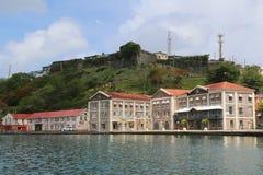 Historiskt fort George i St George ` s, Grenada royaltyfria foton