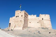 Historiskt fort i Fujairah royaltyfria bilder