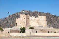 Historiskt fort i Fujairah royaltyfria foton