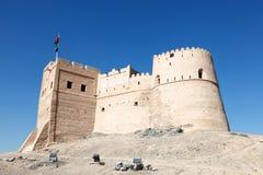 Historiskt fort i Fujairah royaltyfri bild