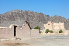 Historiskt fort i Fujairah arkivfoton