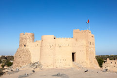 Historiskt fort i Fujairah arkivbild