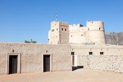 Historiskt fort i Fujairah arkivfoto