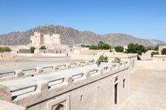 Historiskt fort i Fujairah royaltyfri fotografi