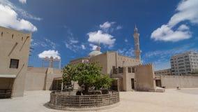 Historiskt fort på museet av Ajman timelapsehyperlapse, Förenade Arabemiraten Royaltyfria Foton