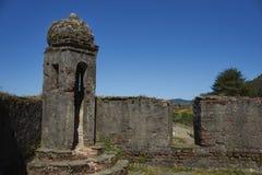 Historiskt fort som skyddar Valdivia i sydliga Chile Arkivbild