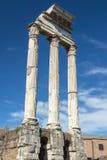 Historiskt frilufts- museum Roman Forum i Rome arkivbild