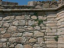 Historiskt gammalt stenfort i Povoa de Varzim, Porto område, Portugal arkivbild