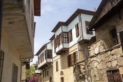 Historiskt gammalt vristhus, Turkiet Loppbegreppsfoto royaltyfri foto
