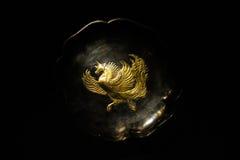 Historiskt guld- enhörningkonstarbete Royaltyfri Bild