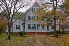 Historiskt hem i Corolla North Carolina och jordning Arkivbild