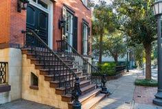 Historiskt hem i Savannah Georgia royaltyfri bild