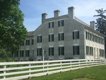 Historiskt hem på Shaker Village Royaltyfria Foton