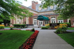 Historiskt hotell, Gideon Putnam, Saratoga Springs, New York, 2015 royaltyfria foton