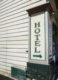 historiskt hotelltecken royaltyfri fotografi