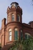 Historiskt hus för drottningAnne Victorian i Gaveston, Texas Arkivfoton