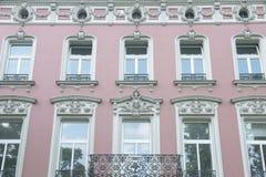 Historiskt hus för fasad i Duesseldorf Fotografering för Bildbyråer