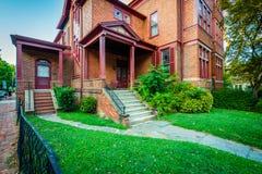 Historiskt hus i Annapolis, Maryland Arkivbild