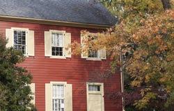 Historiskt hus i Frankfort arkivbild