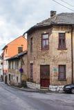 Historiskt hus i mitten av Sarajevo st?mma ?verens omr?desomr?den som Bosnien gemet f?rgade greyed herzegovina inkluderar viktigt arkivbilder