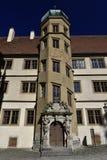 Historiskt hus i Rotheburg ober Tauber, Tyskland Royaltyfri Fotografi