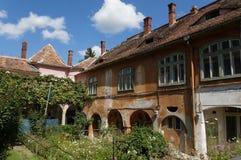 Historiskt hus i Sibiu, Rumänien arkivfoton