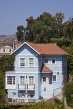 Historiskt hus i Valparaiso, Chile Fotografering för Bildbyråer