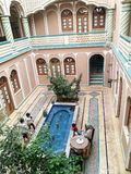 Historiskt hus i Yazd Iran Arkivbilder