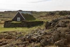Historiskt hus Island Arkivfoto