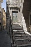 historiskt hus perugia umbria Arkivbild