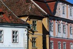 Historiskt hus sibiu romania Royaltyfri Foto