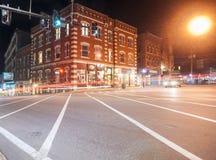 Historiskt i stadens centrum område, Brattleboro Royaltyfri Fotografi