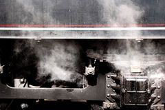 Historiskt järnväg drev Royaltyfria Bilder